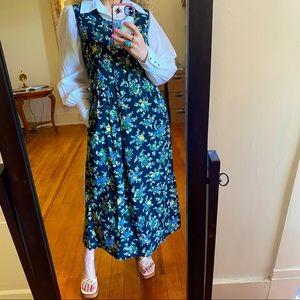 April Cornell Vintage cotton floral 90s Dress